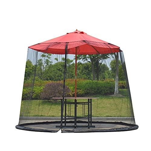 Hpory Myggnät parasoll, hopfällbart parasoll insektsskydd med dragkedja trafikljusparaply myggnät för terrass paviljong insektsskydd UV-skydd – 300 cm x 230 cm