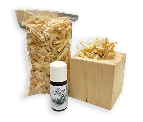 Hagson Zirbenduftwürfel mit Zirbenduftöl und entstaubten Zirbenspänen im Nachfüllpack - Raumduft, Duftspender (1)