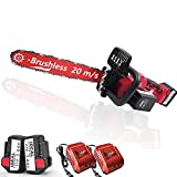 PAKASEPT 42V Motosierra a batería Power, Motosierra Sierra eléctrica 2x batería de 3 / 6Ah,...