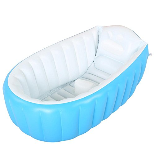 Z&HX Pratique Portable Thicken Hardy Enfant Baignoire Gonflable Adulte Sauna Baignoire La Baignoire Pliable QLM-Baignoire Gonflable et Bain Gonflable (Couleur: Bleu), Blue, 98cm
