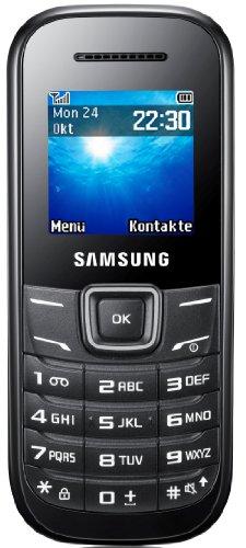 Samsung E1200i Handy (3,9 cm (1,5 Zoll) TFT-Bildschirm, SOS-Nachrichten & Organizer-Funktion) - Schwarz
