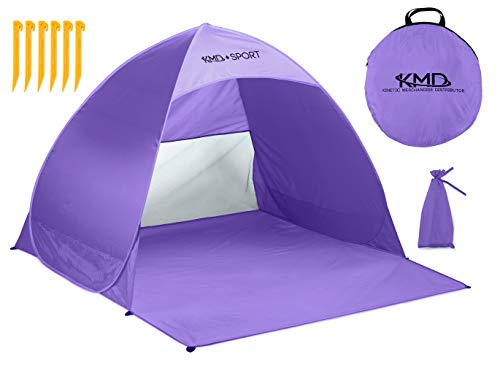 Pop Up Beach Tent Shelters - Lightweight Portable Cabana Sunshade for Privacy & Cool Shade Canopy - Great for Baby, Adults, Kids, Camping - Tents Quick Set Up Provides Instant Sun Shelter (Purple)