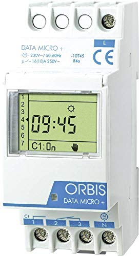 Orbis Data Micro Plus 230 V Interruptor horario Digital de Distribuidor, OB172012N