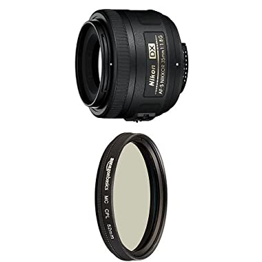 Nikon Lens for DSLR Cameras with Circular Polarizer Lens