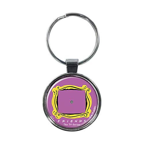 Ata-Boy Friends TV Comedy Assortimento 2 portachiavi da 3,8 cm per chiavi, zaini e altro ancora - Viola - taglia unica
