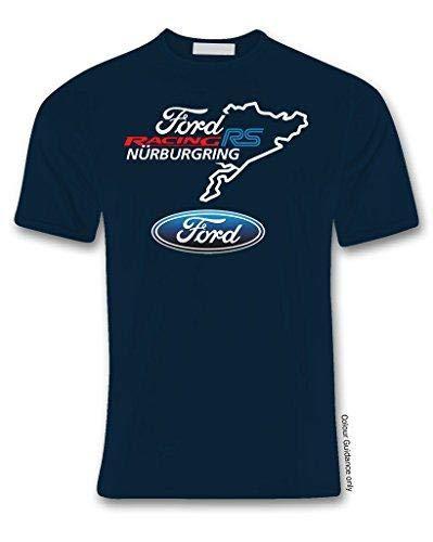 """T-shirt noir avec inscription """"Ford Racing RS Nurnburgring"""" - noir - XL"""