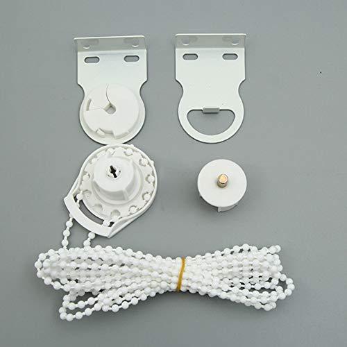 NANAD Kit de repuesto de soporte de metal de calidad de 35 mm, kit de cadena de cuentas de color blanco resistente para persianas enrollables, accesorios prácticos para el hogar, color blanco