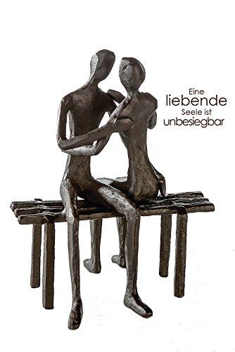 CASABLANCA Design Sculpture Place préférée H 13 cm Lot de 2 brunie B 11 cm T.10 cm en Fer