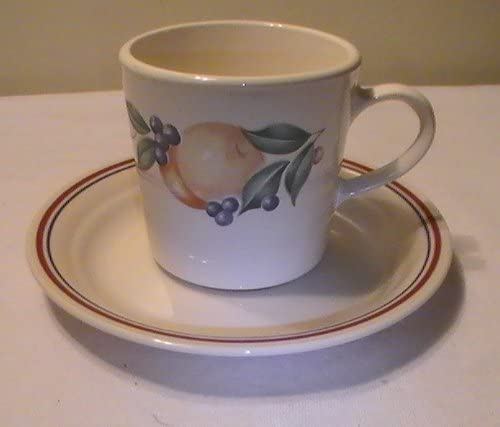 Corning Corelle Abundance Cup and Topics on TV Saucer Set Detroit Mall Replacements of - 4