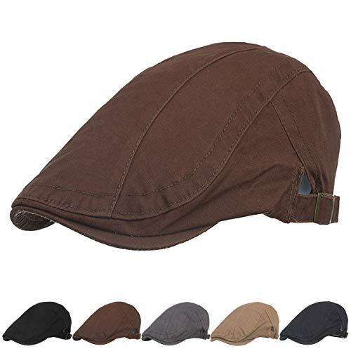 Unisex Cotton Newboys Flat Hats for Men Top Hat for Women Newsboy Hats...