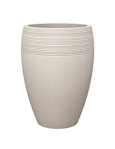 Scheurich Lineo High, Hochgefäß aus Kunststoff, Sand, 47 cm Durchmesser, 65 cm hoch, 26 l Vol.