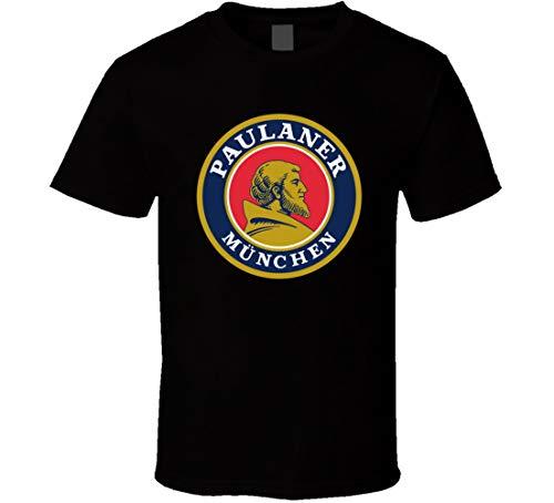 Camiseta Caliente Logo Paulaner Brauerei Munchen Camiseta Negro