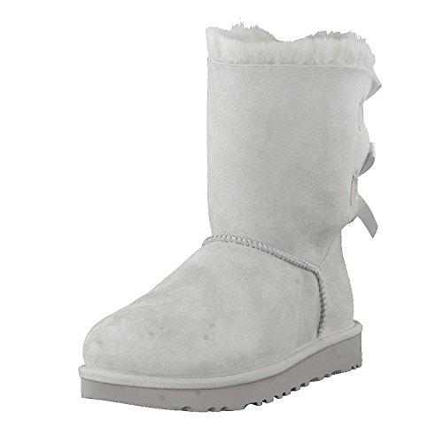 UGG Australia Bailey Damen Schleife halbhohe, wadenhohe Stiefel, schwarz, Grau - hellgrau - Größe: 36 EU