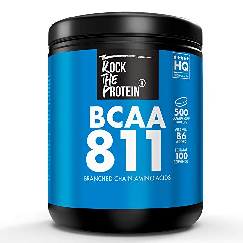 RTP® ● BCAA 8:1:1 + Vit B6 ● 500 Compresse da 1000mg ● Integratore Alimentare a Base di Aminoacidi Ramificati 811 Intra Pre e Post Workout per Massimizzare il Recupero Muscolare