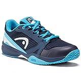Head Sprint 2.5 Junior Zapatos de Tenis, Niño, Azul (Dark Blue/Aqua), 36...