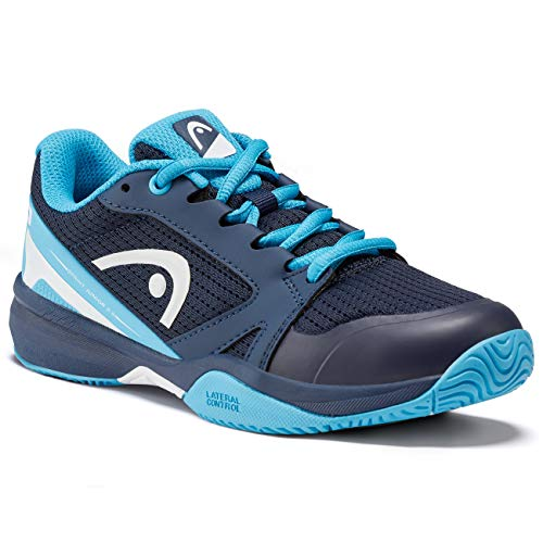 Head Sprint 2.5 Junior, Scarpa da Tennis Gioventù Unisex, Dark Blue/Aqua, 035