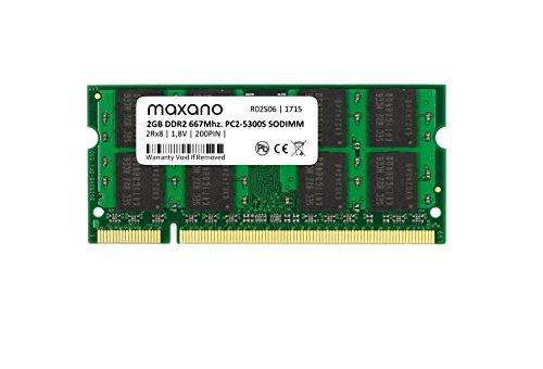 Maxano Memorycity - Memoria RAM da 2 GB, DDR2, 667 Mhz, PC2-5300S, SO Dimm per notebook, netbook e Mac