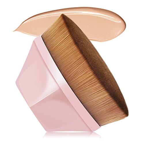 VICKSONGS Foundation Pinsel, Make Up Pinsel mit Aufbewahrungsbox [60g/Super Weich] Foundation Wonder Brush zum Mischen von Flüssigkeit, Creme, Concealer Premium (Rosa)
