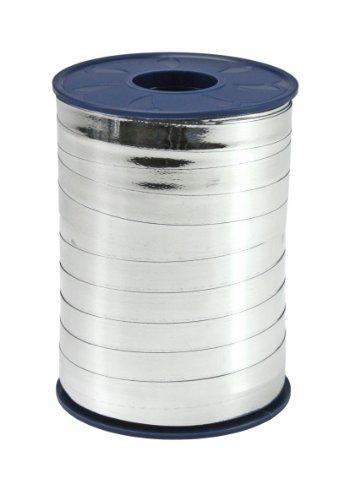 C.E. Pattberg MEXICO Geschenkband metallic silber, 250 m Ringelband zum Einpacken von Geschenken, 10 mm Breite, Zubehör zum Dekorieren & Basteln, Dekoband für Präsente, zu jedem Anlass