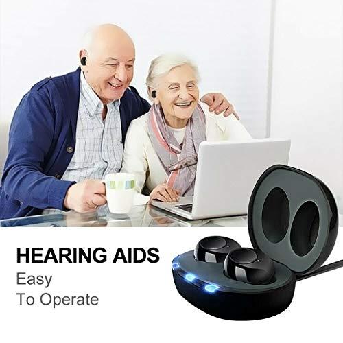 Oplaadbare geluidsversterkers met draagbare USB opladen geval, digitaal geluid versterker, ouderen gehoorapparaat, FDA-certificering, Bluetooth verschijning