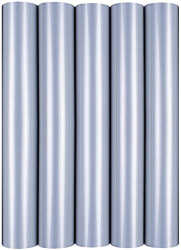 Hilltop 5 X A4 Transferencia de Cine / Cine textiles para el planchado sobre los Textiles perfecto para plotters para 5er Set reflectante de plata