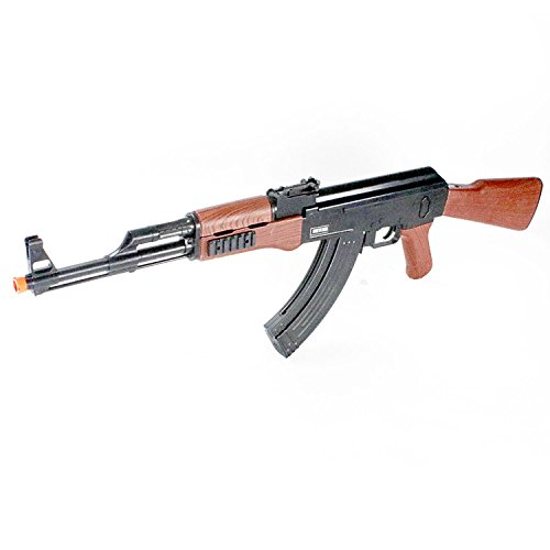 BBTac Airsoft Spring Rifle A&K Airsoft Gun Full Size Great for Starter Shoot 6mm BBS with Safe Mode, Wood Color