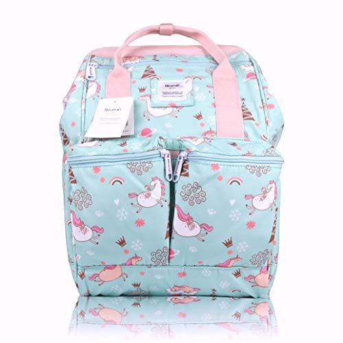Himawari Waterproof School Backpack Vintage College Travel Bag for Women, 13 Inch Laptop for Students (MABLU)