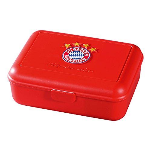 FC Bayern München Brotdose/Lunchbox/Frühstücksbox/Vorratsdose - Mia san mia FCB Plus gratis Aufkleber Forever München