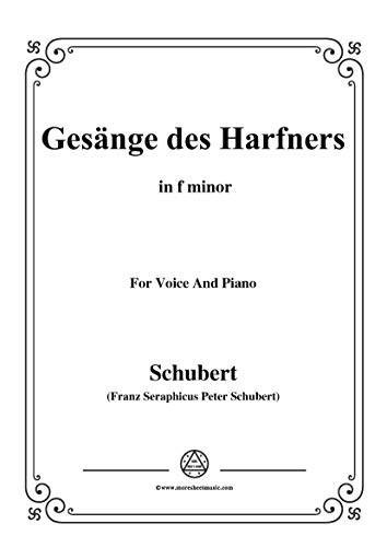 Schubert-An die Türen will ich schleichen Op.12 No.3 in f minor,for Voice and Piano (French Edition)
