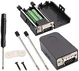 AAOTOKK VGA vite Morsettiera Adattatore,D-SUB 15 Pin 3 Filari DB15 VGA Maschio a 16 Pin/Vie Femmina Terminale Seriale Scheda Breakout Connettore Modulo Segnale con Custodia (2Pezzi/Maschio)