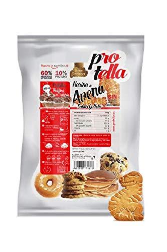 Harina de avena sabor Galleta Protella - Sin Azúcar - Recetas saludables