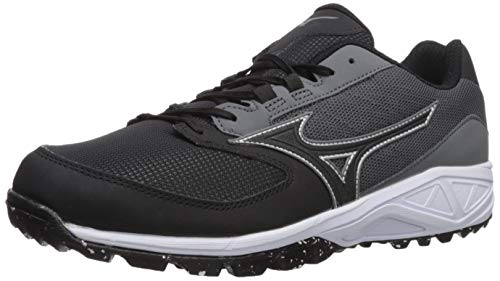 Mizuno Mens Dominant All Surface Low Turf, Charcoal/Black, 9