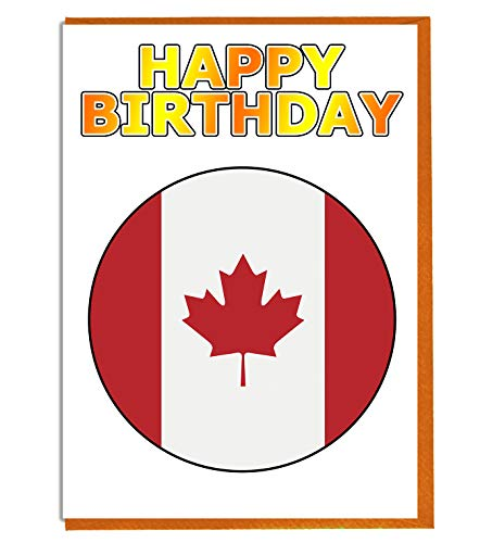 Geburtstagskarte mit Kanada-Flagge, für Fre&e, Familie, Kollegen, Matte, Boss