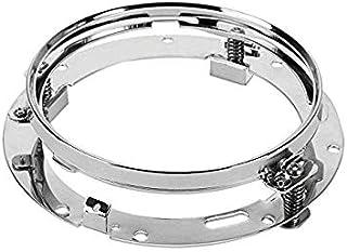 BESTSXMA SXMA 1piece 7 '' Zoll Runde LED Scheinwerfer Halterung Klammern Ring für Motorrad Wrangler TJ JK 7inch LED Projektor Scheinwerfer HJ092 (Silber)