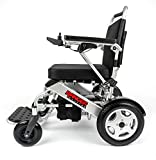Porto Mobility Ranger Quattro Ultra Exclusive Lightweight Foldable Electric Wheelchair Lightweight, Stronger, Longer Range Super Horse Power Dual Motorized Folding Power Wheelchair (Silver, Standard)