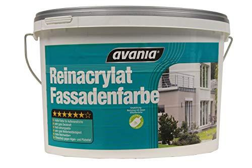 Avania Reinacrylat Fassadenfarbe Weiß Matt 10 Liter