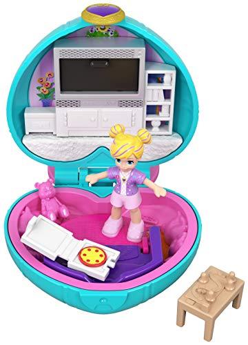 Polly Pocket Mini cofre Salón de Polly, muñeca con accesorios (Mattel GCN07)