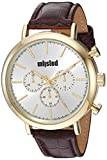 UNLISTED WATCHES Men's Dress Sport Analog-Quartz Watch with Leather-Synthetic Strap, Brown, 20 (Model: ULC0221002)