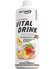 Best Body Nutrition Vital Drink ZEROP® - Eistee-Pfirsich, zuckerfreies Getränkekonzentrat, 1:80 ergibt 80 Liter Fertiggetränk, 1000 ml