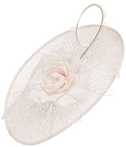 Jacques Vert Women's Mesh Flower Disc Headband, Beige (Neutral), One Size