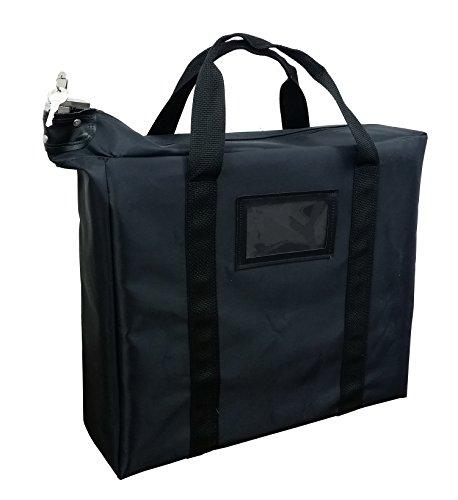 Briefcase Style Locking Document Bag (Black)