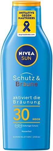 NIVEA SUN Sonnenlotion, Lichtschutzfaktor 30, Flasche, Schutz und Bräune, 200 ml