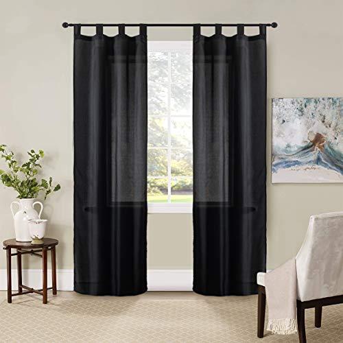 GIRASOLE Par de cortinas semiopacas de color liso para salón, dormitorio, balcón,...