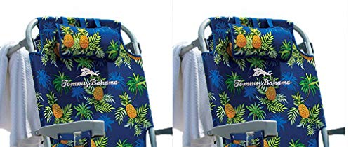 Tommy Bahama 2 2016 Backpack Cooler Beach Chair with Storage Pouch and Towel Bar (Green Floral)
