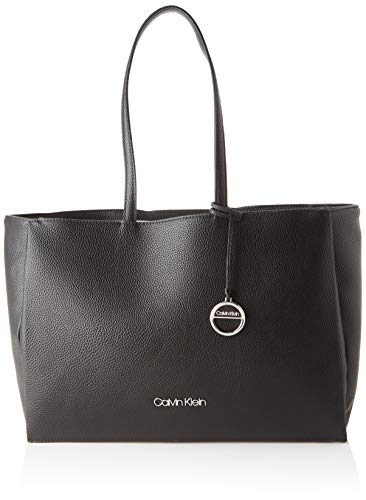 Calvin Klein Damen Sided Shopper W/Laptop Sleeve Taschenorganizer, Schwarz (Black), 1x1x1 cm