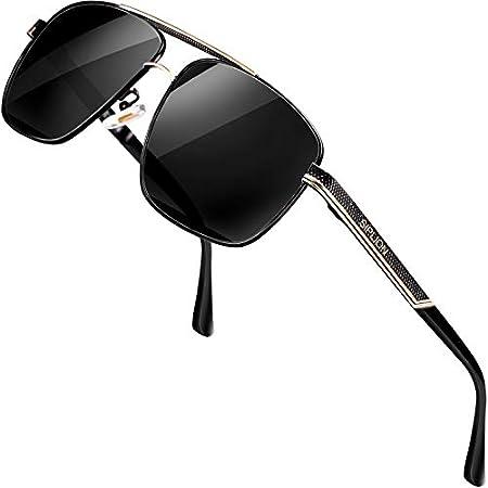 HD Driving Metal Pilot SunGlasses Blue Blocker High Definition Silver POUCH E