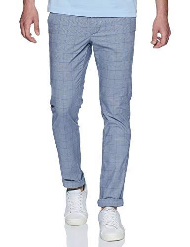 Indian Terrain Men's Slim Fit Casual Trousers (ITMTR00319_Navy_38)