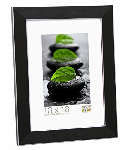 Deknudt Frames S41VK2 Cadre Photo Bois/Résine Beige/Noir 15 x 23 cm