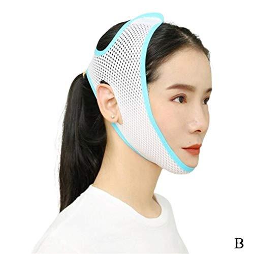 ZJXYYYzj V Lifting Masque, Respirant V Visage Cheek Lift Up Band Masque Visage Mince Fermeté Anti Menton Rides Tension de la Courroie Mise en Forme V-Line Réduire Double (Color : Blue)