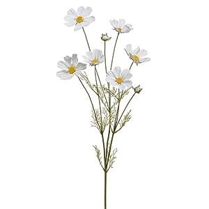 36″ Cosmos Silk Flower Stem -White (Pack of 24)